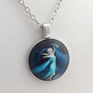 Anna Elsa princess sisters Frozen necklace